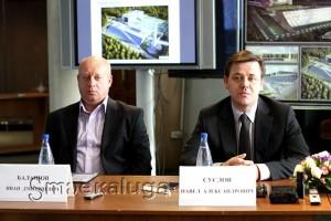 слева направо: Иван Балашов и Павле Суслов калуга