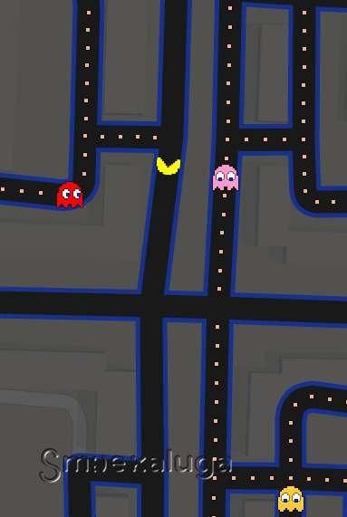 Калужские улицы стали площадкой игры в Pac-Man