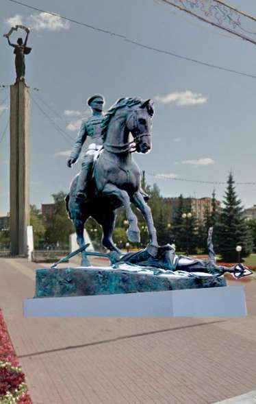 Памятник маршалу Жукову установят на площади Победы