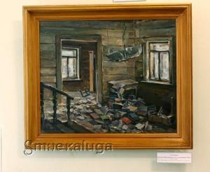 Д. М. Тархов. Дом-музей Циолковского после ухода немцев. 1942 год в калуге