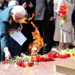 Возложение цветов к Вечному огню калуга