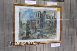 Экспозиция в витрине Дома художника 70-лет победы