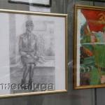 Экспозиция в витрине Дома художника город калуга