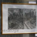 Экспозиция в витрине Дома художника в калуге