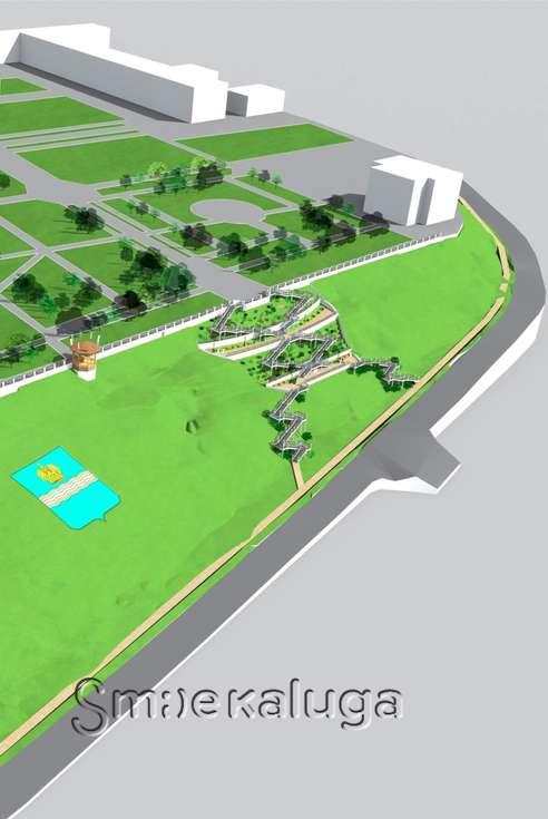 Архитекторы предложили три проекта реконструкции склона парка