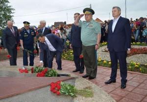 Церемония открытия памятника калуга