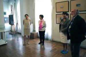 На открытии выставки калуга