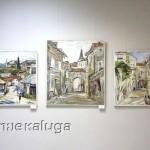 Александр Петровичев. Триптих. Бар (левая часть), Пераст (центральная часть), Будва (правая часть), 2011 год калуга