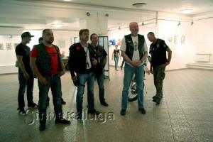 Участников выставки приехали поддержать калужский байкеры калуга