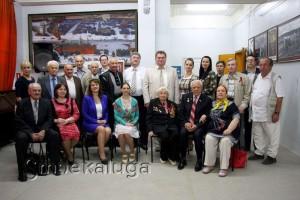 На открытии Зала советской эпохи калуга