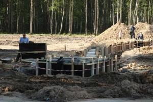 Стройплощадка на месте Губернского парка калуга
