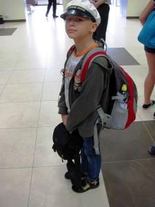 Юные пассажиры ожидают рейс в Анапу калуга
