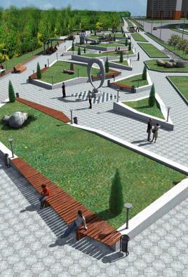 Ко Дню города в Губернском парке появятся парадные ворота, дорожки и цветники