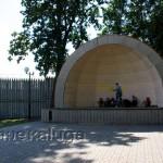 Сцена в Городском парке козельск