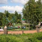 """Парк """"Три богатыря"""" с моста через Другуску козельск"""