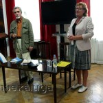 Директор ГМИК Наталья Абакумова представляет гостя калуга