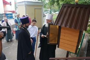 Открытие первой православной уличной библиотеки калуга