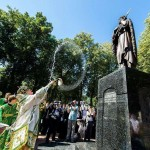 Освящение памятника Лаврентию Калужскому калуга
