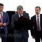Участники церемонии оставили свои подписи на письме потомкам калуга