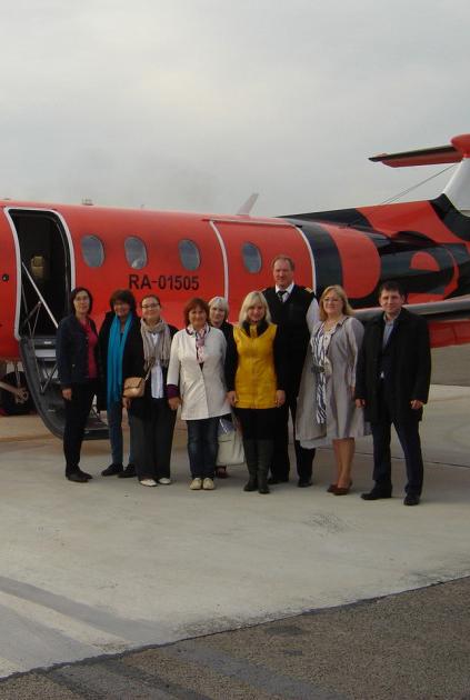 Первый самолёт из Минска приземлился в Калуге