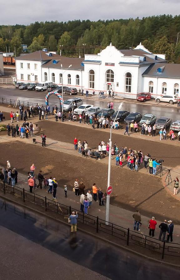 Возле станции «Калуга – 2» открыли привокзальный сквер