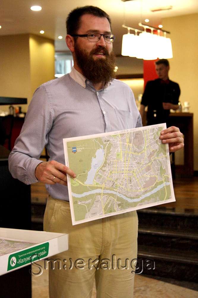 В калужских гостиницах появились туристические отрывные карты