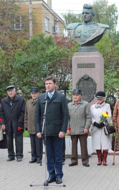 В Калуге почтили память дважды Героя Советского Союза А. Т. Карпова