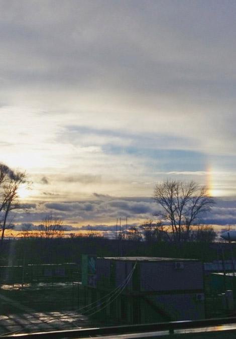 В небе над Калугой наблюдались «ложные солнца»