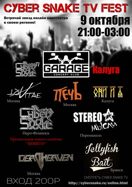 Cyber Snake TV Fest в GaragE Bar