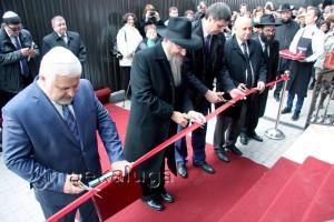 На открытии синагоги