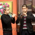 На открытии звучала национальная армянксая музыки на дудуках в исполнении Арана Гаспаряна и Агвана Асатряна калуга