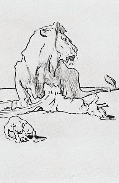 Калужский музей изобразительных искусств представил коллекцию рисунков В. А. Серова к басням Крылова