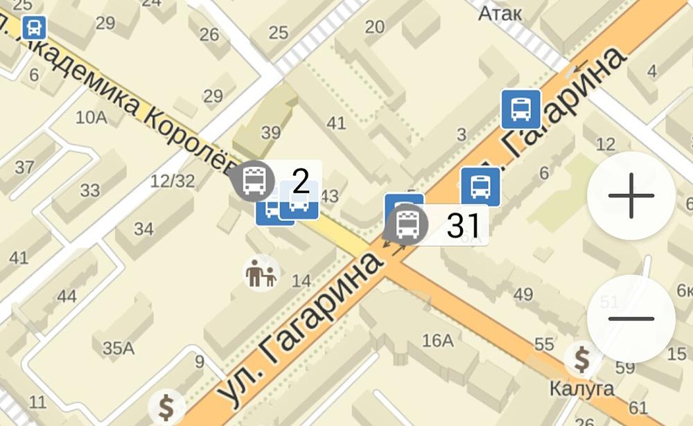 Движение калужских автобусов и маршруток теперь можно отслеживать в приложении «Яндекс.Транспорт»
