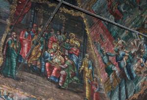 Роспись на стенах Казанского храма калуга