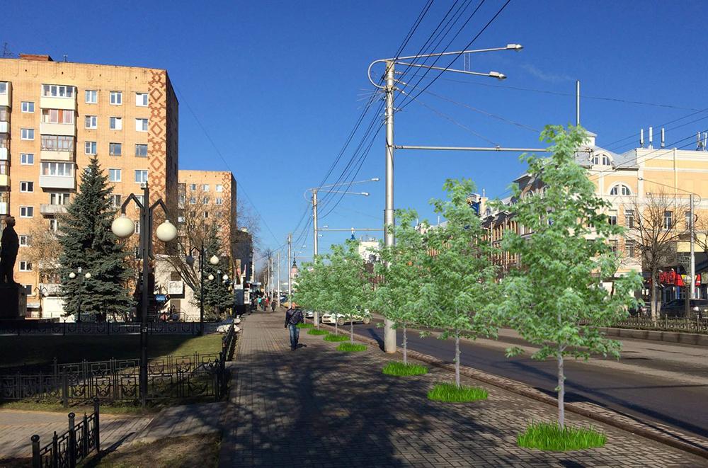 К 1 мая на улице Кирова вновь появятся деревья