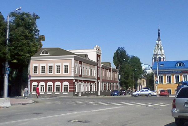 На пересечении улиц Академика Королёва и Баумана построят новый двухэтажный дом в историческом стиле