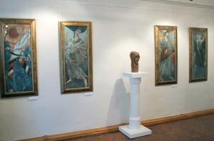 На выставке калуга
