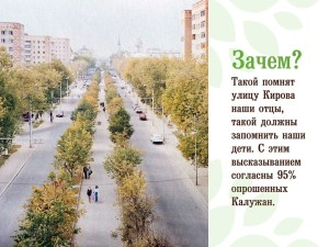 Проект по озеленению улицы Кирова калуга