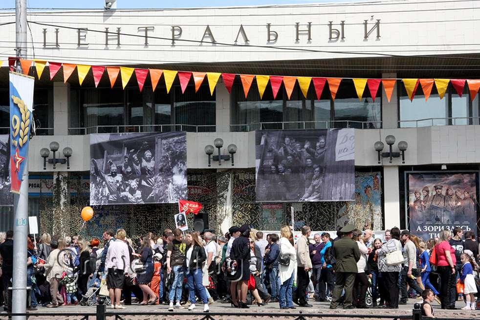 К 9 мая на Кирова появится инсталляция «Мы помним», Театральную украсят баннеры с информацией о героях Калужской области