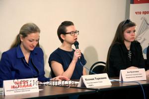 Участники фестиваля на пресс-конференции калуга