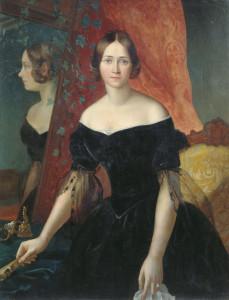 """""""Женский портрет"""". Аполлон Мокрицкий (1841 год) калуга"""