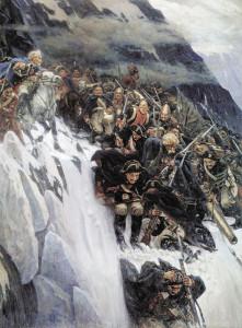 "Картина ""Переход Суворова через Альпы"" калуга"