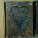 Пряничная доска с сердцем (в экспозиции музея) калуга