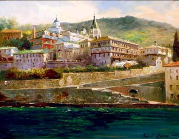 В Калужском музее изобразительных искусств начала работать выставка Алексея Рычкова «Православные храмы России и мира»