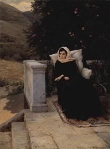 """Н. Ярошенко. """"В тёплом краю"""" (1890 год)."""
