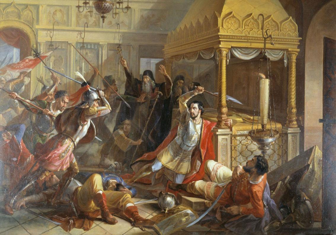 Синтез классицизма и романтизма в картине «Предсмертный подвиг князя М. К. Волконского в Пафнутьевском монастыре…»