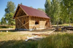 Строительство эко-дома на фестивале калуга