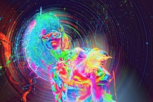 Флюоресцентное боди-арт-шоу Бориса Пономарёва калуга