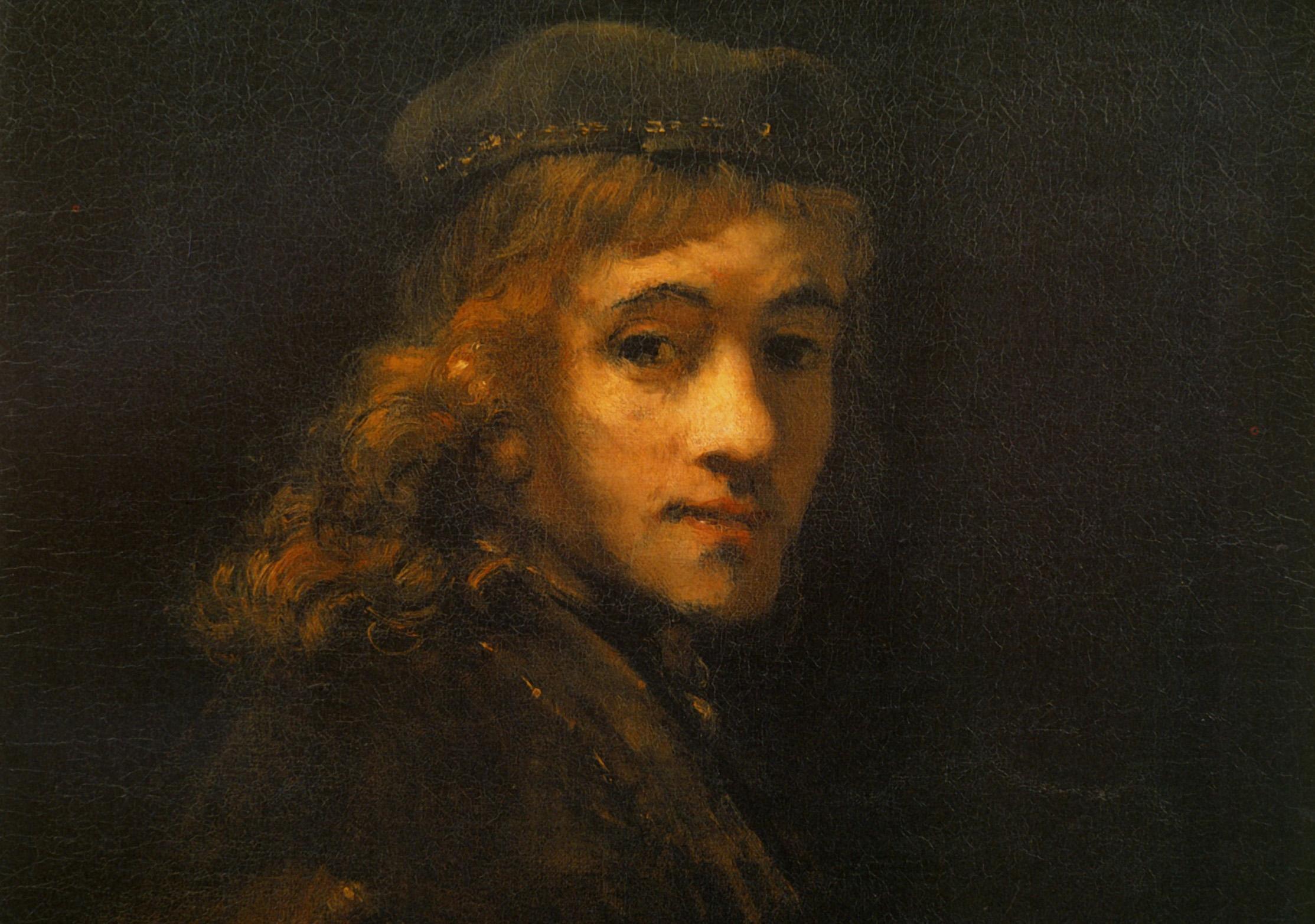 В Калужском музее изобразительных искусств представлена копия картины Рембрандта «Портрет сына Титуса ван Рейна»