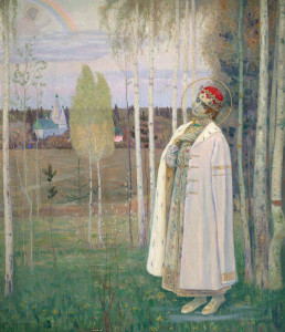 М. В. Нестеров. «Дмитрий-Царевич» (1924 год), картина находится в Калужском музее изобразительных искусств калуга